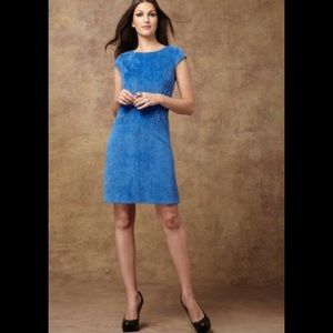 NWT Sharagano Size 10 Blue Corduroy Shift Dress
